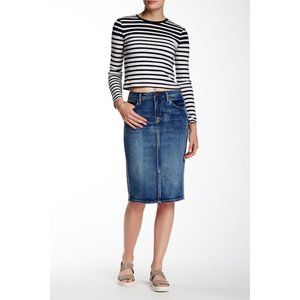 Ashley Mason Midi Denim Jean skirts 25 Nwot